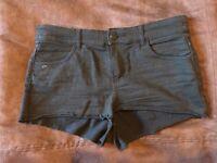 H&M black denim short shorts - size 10