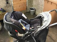 Travel System comprises of pushchair, baby/car seat & accessories