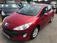 2010/10 PEUGEOT 308 1.6 HDi FAP SR 5DR RED EXCELLENT CONDITION,GREAT DIESEL ECONOMY,DRIVES WELL