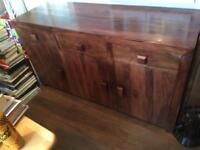 Mango wood sideboard.
