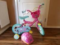 Peppa pig 12inch bike with helmet