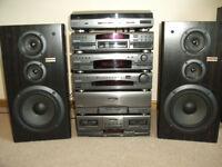 Rare J Series Pioneer 6 Piece Sepatates HiFi System 1991