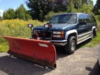 1995 GMC Suburban Diesel 4x4 with plow!! As Traded