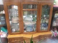 Oak wooden cabinet