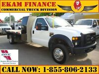 2009 Ford F-550 Regular Cab 4x4 12 Ft Flat Deck, Dually 5th Whee