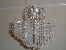 GLASS TEAR DROP CHANDELIER