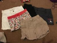 6 pairs of girls shorts 5-6 years M&S H&M