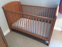 Cosatto 3 in 1 cot bed in antique pine