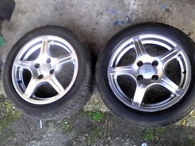 15inch wolfrace wheels