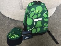 Cubs rucksack and accessories
