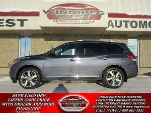2013 Nissan Pathfinder PLATINUM EDITION 4X4, LEATHER, PAN ROOF,
