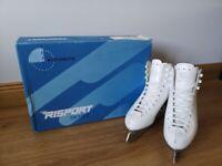 Risport RF4 White Figure Ice Skates Size UK 1.5
