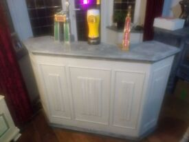 Grey Shabby Chic Indoor Bar