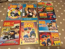 Collection of Postman Pat DVD's in good condition