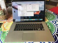 Macbook Pro 15 Retina 2.3ghz Intel Core i7 - 8GB Ram - 256GB SSD - Intel/Geforce Graphics, Mid 2012
