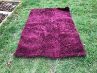 Purple/pink long pile rug