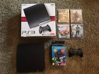 Playstation 3 Slim 120GB, 4 Games and Playstation Move!
