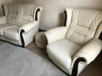Italian Leather 3 Piece Suite ( As New )