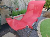 Stylish red garden chair. Very good condition. Rarely used. Fiam Italia designer armchair.