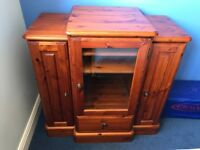 Beautiful Solid Pine Ducal Media Cabinet, Rosewood Colour