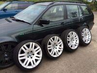 """BMW 7 Series 18"""" 8J Alloy Wheels E65 E66 Style 93 5x120 e46 M3 X5 BBS e90 e61 Bentley Tiger Claws"""