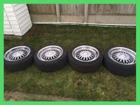 """Alloy Wheels 17"""" 5 Stud Calibre Vintage Alloy 5x110 Vauxhall 215/45/17"""