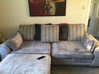 3 seater sofa and storage footstool