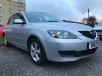 ★ LOW mileage ★ Free Approved SAT NAV ★ 2007 Mazda 3 Katano 1.6, 5dr ★Excell't Service history,2 Own