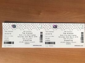 Tom Grennan Tickets x2 Nottingham 24th March
