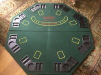 Casino style Poker, Blackjack, Felted Tabletop Games Board with 8 trays for chips and drinks £15
