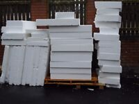 Polystyrene/Insulation Approx 1m x 1m x 55/100/150mm depths. From £2.20 (also Ideal for Packaging)