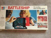 Battleships vintage boxed game