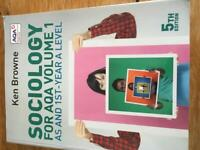 A Level Sociology study, used for sale  Newcastle-under-Lyme, Staffordshire