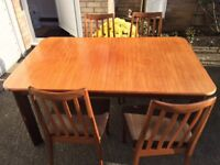 G Plan Dining Table and 4 Chairs