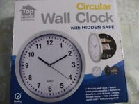 WALL CLOCK with HIDDEN SAFE (Brand New & Boxed)