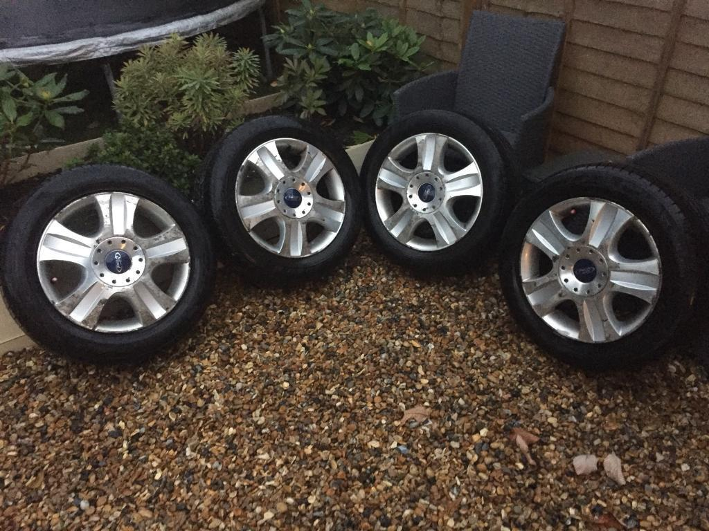 """Set of 4 16"""" Ford galaxy alloy wheels tyres centre caps"""