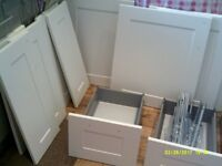 Kitchen cupboard doors - white gloss, shaker style