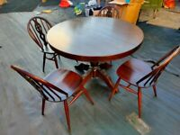 Ercol chairs and extending dining table