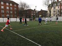 Sunday 5-a-side football league in Islington