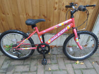 "GIRLS 20"" WHEEL BIKE, RALEIGH SUNBEAM GREAT CONDITION."