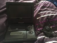 logik portbable DVD player. In good condition. Comes with charger and remote.