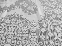 Soft white net double tablecloth
