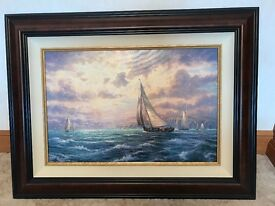 Thomas Kinkaide picture with frame