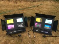 2x iColour 4 DJ lights for sale