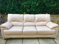 3 Seater Real Leather Sofa! Delivery Available