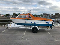 MICROPLUS 502 CABIN CRUISER/FISHER/DAY BOAT AND TRAILER