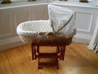Mothercare rocking crib -and- moses basket