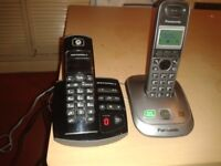 digital cordless phones Panasonic and Motorola