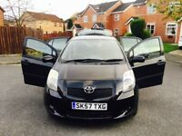 TOYOTA YARIS TR MODEL 2007 BLACK 5 DOORS FULL SERVICE 63000 MILEAGE 2 KEYS EXCELLENT CONDITION £2850