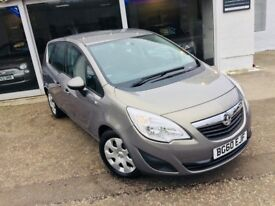 2010/60 REG VAUXHALL MERIVA EXCLUSIV - 1 YEARS MOT - FSH - ONLY 64K MILES - CRUISE CONTROL - AIR CON
